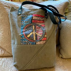 NWT Handmade TOTE from recycled Military Tents